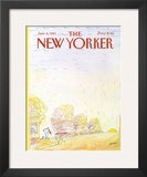 The New Yorker Cover - June 6, 1983 Framed Giclee Print by Jean-Jacques Sempé