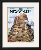 The New Yorker Cover - October 2, 1995 Framed Giclee Print by Edward Sorel