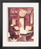 The New Yorker Cover - January 25, 1982 Framed Giclee Print by Jean-Jacques Sempé