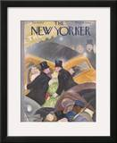 The New Yorker Cover - January 16, 1937 Framed Giclee Print by William Cotton