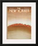 The New Yorker Cover - November 6, 1971 Framed Giclee Print by Jean-Michel Folon