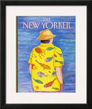 The New Yorker Cover - June 13, 1988 Framed Giclee Print by Pamela Paparone