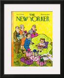 The New Yorker Cover - December 27, 1969 Framed Giclee Print by William Steig