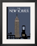 The New Yorker Cover - October 3, 2005 Framed Giclee Print by Chris Ware
