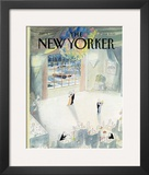 The New Yorker Cover - January 5, 1987 Framed Giclee Print by Jean-Jacques Sempé