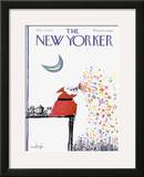 The New Yorker Cover - December 25, 1971 Framed Giclee Print by Ronald Searle