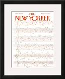 The New Yorker Cover - December 15, 1975 Framed Giclee Print by James Stevenson