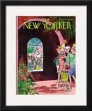 The New Yorker Cover - January 9, 1971 Framed Giclee Print by Charles Saxon