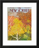 The New Yorker Cover - October 22, 1973 Framed Giclee Print by Ilonka Karasz