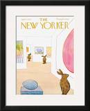 The New Yorker Cover - April 1, 1972 Framed Giclee Print by James Stevenson