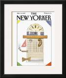 The New Yorker Cover - January 16, 1989 Framed Giclee Print by Eugène Mihaesco