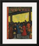 The New Yorker Cover - December 12, 1953 Framed Giclee Print by Abe Birnbaum