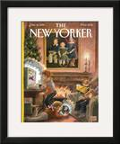 The New Yorker Cover - December 16, 1996 Framed Giclee Print by Edward Sorel