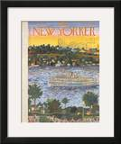 The New Yorker Cover - August 31, 1957 Framed Giclee Print by Ilonka Karasz