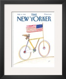 The New Yorker Cover - July 8, 1985 Framed Giclee Print by Saul Steinberg