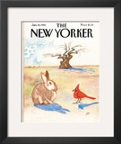 The New Yorker Cover - January 18, 1982 Framed Giclee Print by Saul Steinberg