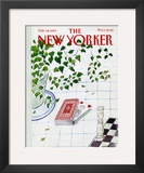 The New Yorker Cover - February 14, 1983 Framed Giclee Print by Jean-Jacques Sempé