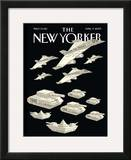 The New Yorker Cover - April 9, 2007 Framed Giclee Print by Christoph Niemann