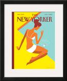 The New Yorker Cover - August 9, 2010 Framed Giclee Print by Christoph Niemann