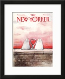 The New Yorker Cover - February 18, 1991 Framed Giclee Print by Ronald Searle