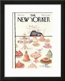 The New Yorker Cover - February 17, 1973 Framed Giclee Print by Ronald Searle