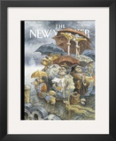 The New Yorker Cover - November 21, 2005 Framed Giclee Print by Peter de S&#232;ve