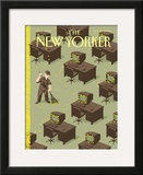 The New Yorker Cover - October 25, 2004 Framed Giclee Print by Christoph Niemann