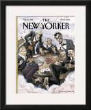 The New Yorker Cover - February 12, 1996 Framed Giclee Print by Edward Sorel