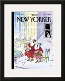 The New Yorker Cover - December 13, 2004 Framed Giclee Print by George Booth