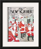 The New Yorker Cover - December 25, 1965 Framed Giclee Print by George Price