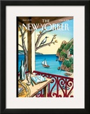 The New Yorker Cover - April 18, 2011 Framed Giclee Print by Jacques de Loustal