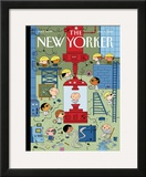 The New Yorker Cover - January 4, 2010 Framed Giclee Print by Ivan Brunetti