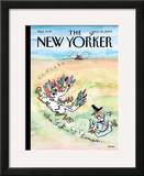 The New Yorker Cover - November 30, 2009 Framed Giclee Print by George Booth