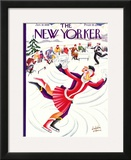 The New Yorker Cover - January 18, 1930 Framed Giclee Print by Constantin Alajalov