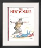 The New Yorker Cover - July 6, 1992 Framed Giclee Print by Warren Miller