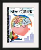 The New Yorker Cover - September 4, 2006 Framed Giclee Print by Bob Staake