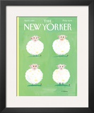 The New Yorker Cover - April 7, 1997 Framed Giclee Print by Maira Kalman