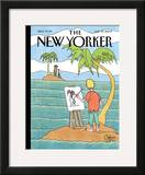 The New Yorker Cover - July 27, 2009 Framed Giclee Print by Gahan Wilson
