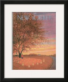 The New Yorker Cover - October 31, 1953 Framed Giclee Print by Edna Eicke