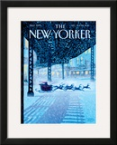 The New Yorker Cover - December 19, 2011 Framed Giclee Print by Eric Drooker