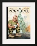 The New Yorker Cover - December 19, 2005 Framed Giclee Print by Anita Kunz