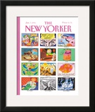 The New Yorker Cover - January 7, 1991 Framed Giclee Print by Kenneth Mahood