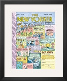 The New Yorker Cover - April 6, 2009 Framed Giclee Print by Roz Chast