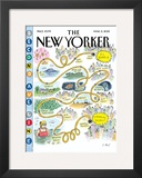 The New Yorker Cover - March 5, 2012 Framed Giclee Print by Roz Chast
