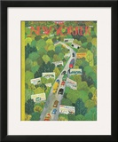 The New Yorker Cover - June 14, 1947 Framed Giclee Print by Ilonka Karasz