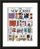 The New Yorker Cover - October 19, 1957 Framed Giclee Print by Anatol Kovarsky