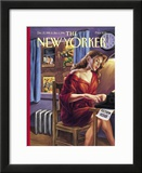 The New Yorker Cover - December 25, 1995 Framed Giclee Print by Owen Smith