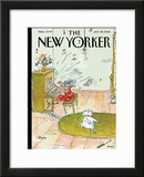 The New Yorker Cover - January 30, 2012 Framed Giclee Print by George Booth