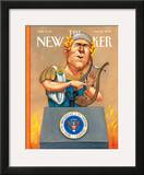The New Yorker Cover - January 22, 2007 Framed Giclee Print by Anita Kunz