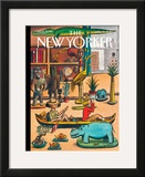 The New Yorker Cover - April 19, 2010 Framed Giclee Print by Jacques de Loustal